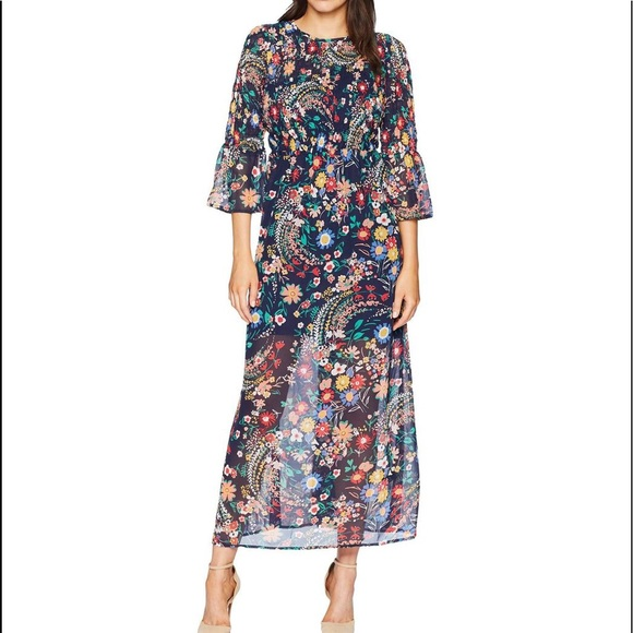 ECI Dresses & Skirts - ECI New York, Blue Paisley, maxi dress